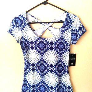 Energie blue&white blouse NWT women size small